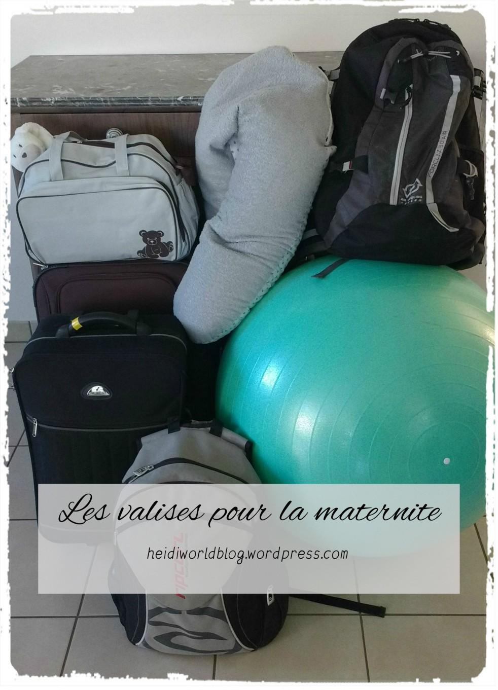 Les valises pour la maternité